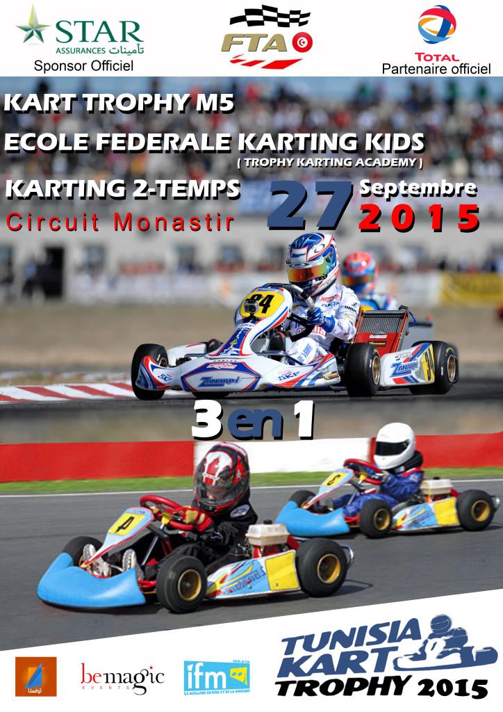 affiche karting 2015