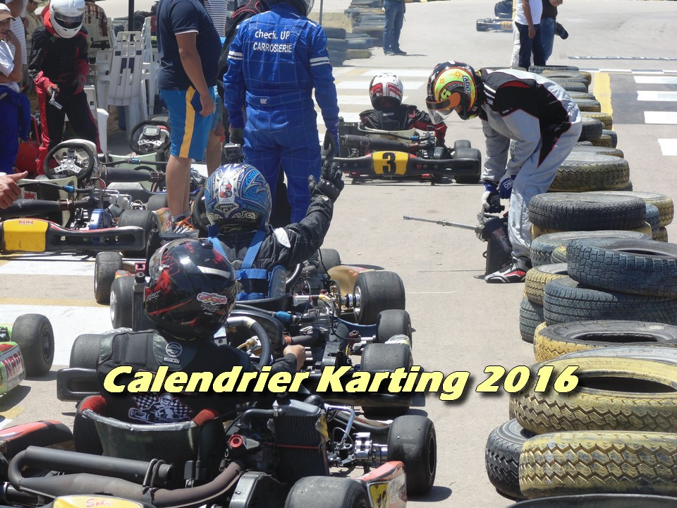 Calendrier Karting 2016