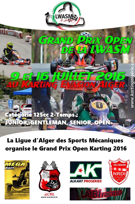 Top départ du Grand Prix Open de Karting d'Algérie 2016
