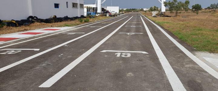 Travaux de rénovation de la piste Karting Hergla